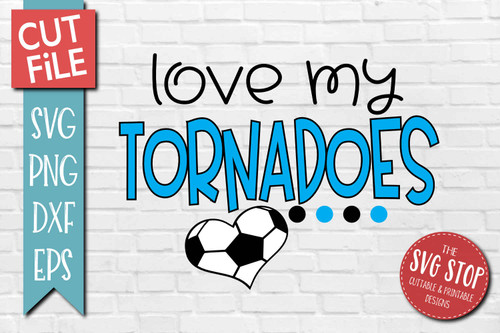 Tornadoes Soccer football mascot svg cut file silhouette Cricut sublimation printing