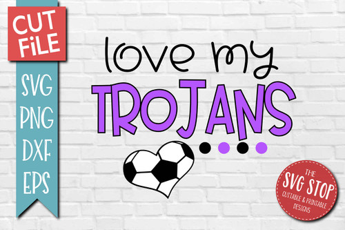 Trojans Soccer football mascot svg cut file silhouette Cricut sublimation printing