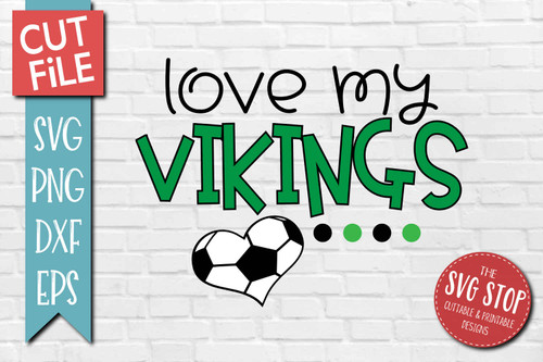 Vikings Soccer football mascot svg cut file silhouette Cricut sublimation printing