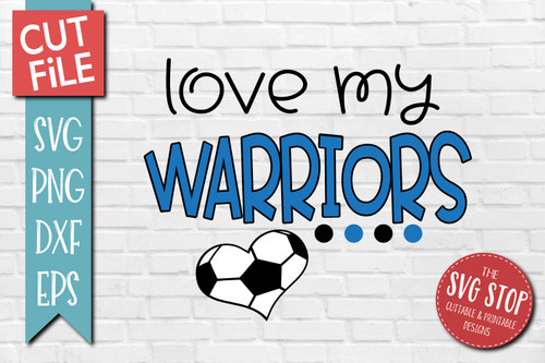 Warriors Soccer football mascot svg cut file silhouette Cricut sublimation printing
