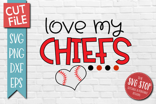 Chiefs Baseball  mascot svg cut file silhouette Cricut sublimation printing