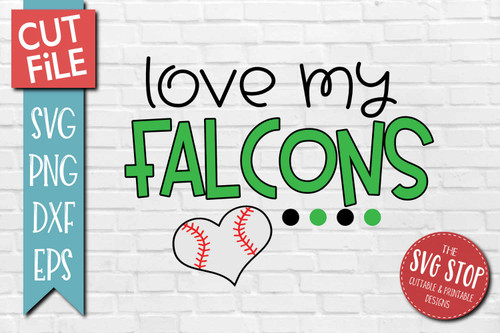 Falcons Baseball  mascot svg cut file silhouette Cricut sublimation printing