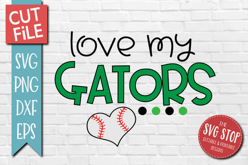 Gators Baseball  mascot svg cut file silhouette Cricut sublimation printing