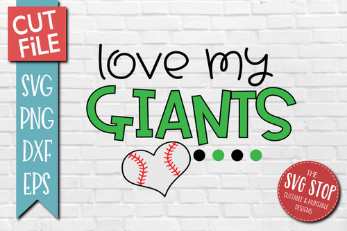Giants Baseball  mascot svg cut file silhouette Cricut sublimation printing