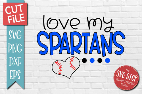 Spartans Baseball  mascot svg cut file silhouette Cricut sublimation printing