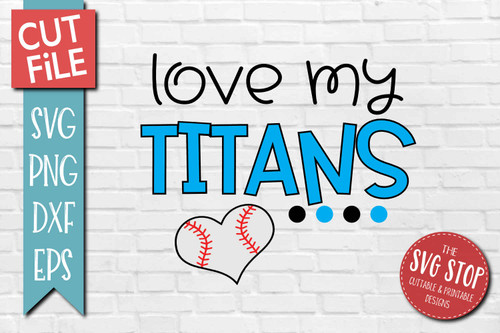Titans  Baseball  mascot svg cut file silhouette Cricut sublimation printing