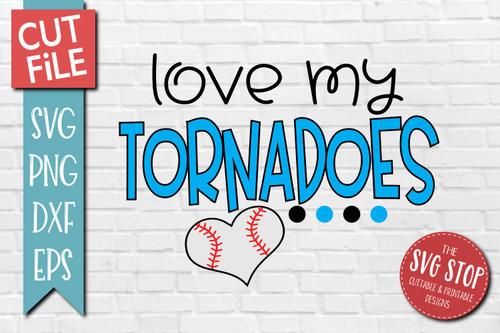 Tornadoes Baseball  mascot svg cut file silhouette Cricut sublimation printing