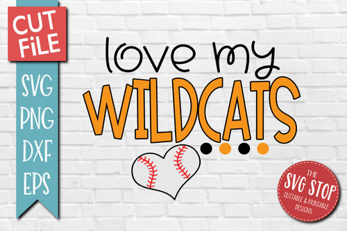 Wildcats Baseball  mascot svg cut file silhouette Cricut sublimation printing