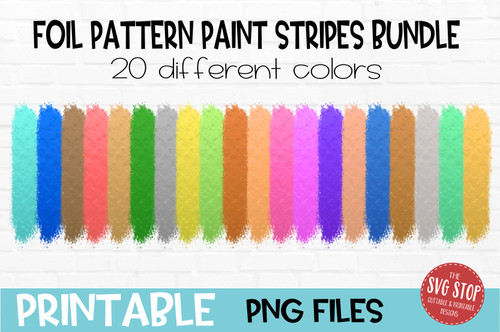 foil print paint stripes bundle  team colors paint brush strokes sublimation svg png clipart design