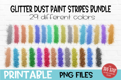 Glitter Dust paint stripes bundle  team colors paint brush strokes sublimation svg png clipart design