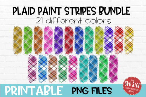 Plaid paint stripes bundle  team colors paint brush strokes sublimation svg png clipart design
