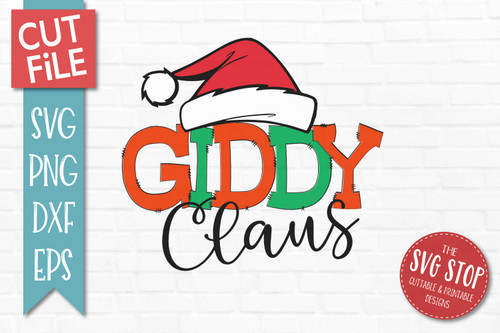 Giddy Claus Christmas SVG Cut file clipart