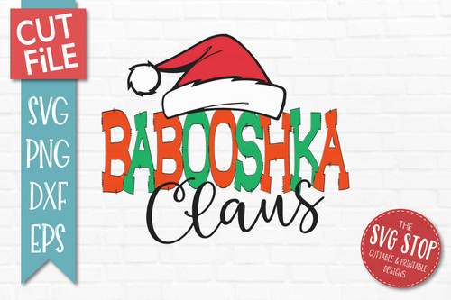 Babooshka Claus Christmas SVG Cut file clipart
