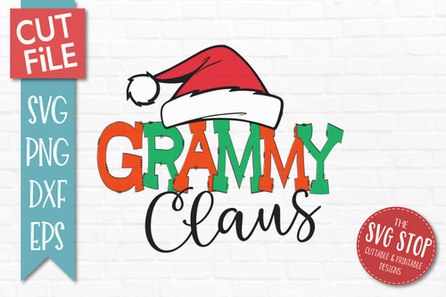 Grammy Claus Christmas SVG Cut file clipart