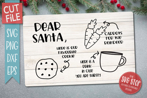Favorite cookie for santa svg