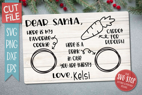 dear santa tray svg