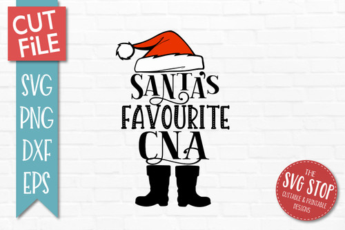 Santas Favourite CNA SVG Christmas Clipart Cut file Santa Hat