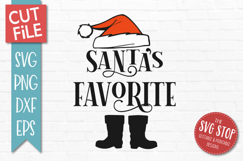 Santas Favorite SVG Christmas Clipart Cut file Santa Hat