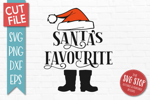 Santas Favourite SVG Christmas Clipart Cut file Santa Hat