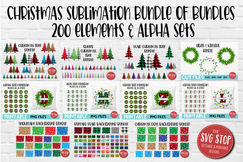 Christmas sublimation design bundle