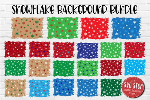 Christmas snowflake backgrounds for sublimation and digital paper