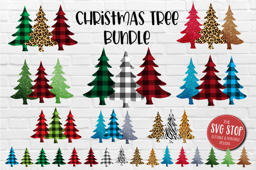 Plaid and Cheetah Pattern Christmas trees  backgrounds for sublimation and digital paper