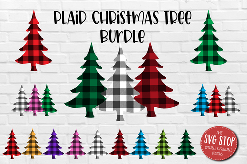Buffalo Plaid Pattern Christmas trees  backgrounds for sublimation and digital paper