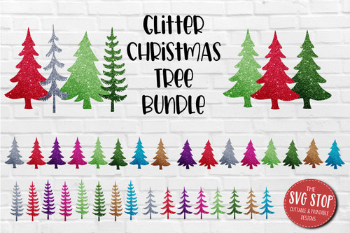 Glitter Christmas trees  backgrounds for sublimation and digital paper