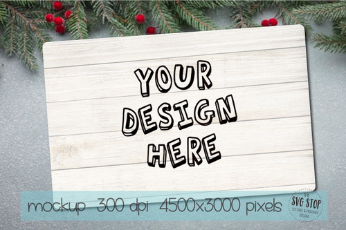 Wood Tray or Wood sign mock up