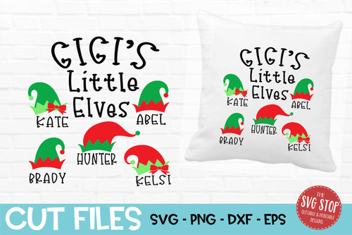 Gigi little elves grandma shirt svg cut file design