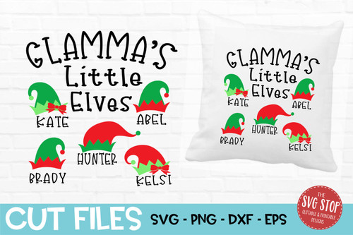 Glamma little elves grandma shirt svg cut file design