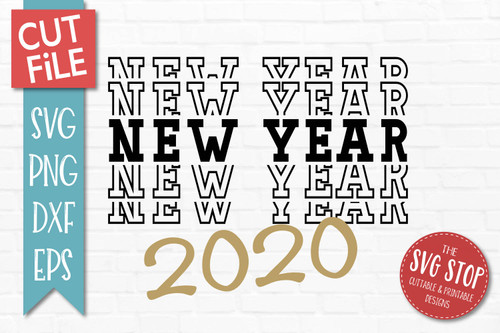 Happy New Year SVG 2020 cut file