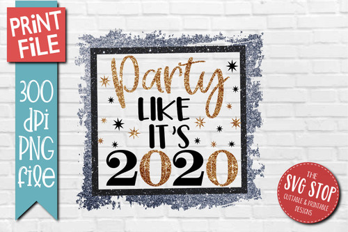 2020 New Years Design for Sublimation PNG file