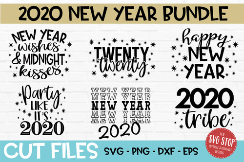 New Year 2020 SVG Bundle cut files for silhouette and cricut