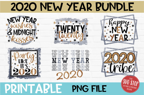 2020 New Year Bundle PNG printable files for sublimation and printing