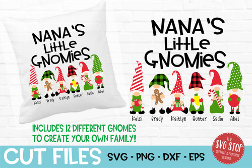 Nanas little gnomies grandma gnome svg cut files sublimation design