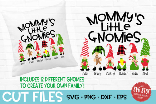 Mommys little gnomies grandma gnome svg cut files sublimation design