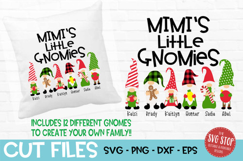 Mimis little gnomies grandma gnome svg cut files sublimation design