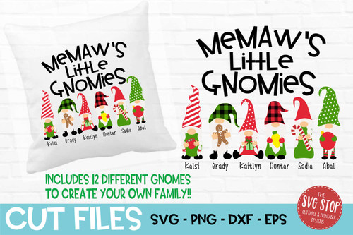 Memaws little gnomies grandma gnome svg cut files sublimation design