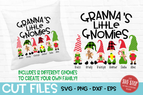 Grannas little gnomies grandma gnome svg cut files sublimation design