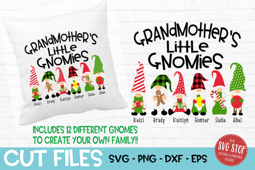 Grandmother little gnomies grandma gnome svg cut files sublimation design