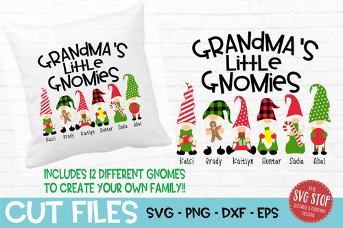 Grandma little gnomies grandma gnome svg cut files sublimation design