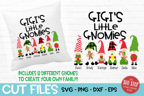 Gigi little gnomies grandma gnome svg cut files sublimation design