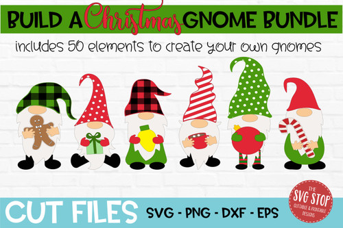 Build a Christmas Gnome Svg Bundle for cricut silhouette and sublimation printing