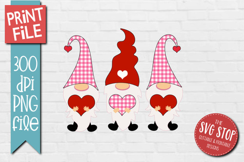 Gnomes pink plaid glitter hats Design for Sublimation PNG file