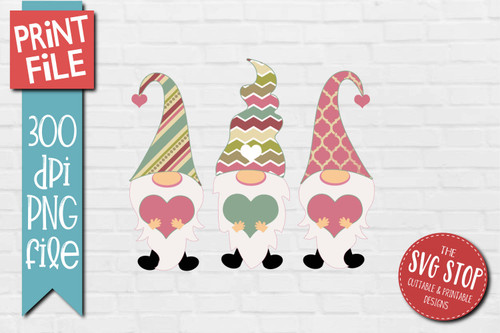 Gnomes retro hats Design for Sublimation PNG file