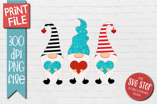 Gnomes Stripes Glitter  hats Design for Sublimation PNG file