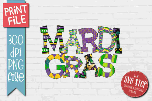 Mardi Gras- PRINT File - Sublimation Design