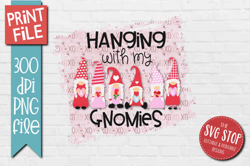 Gnome Valentine  - PRINT File - Sublimation Design 3