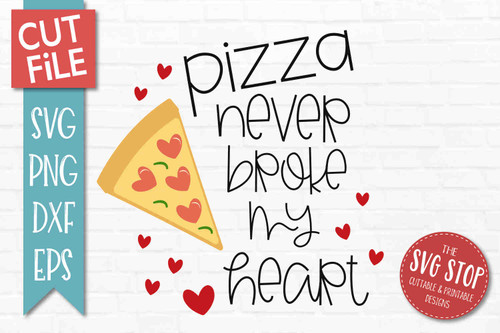 Pizza Valentine SVG DXF Png Eps - Cut File